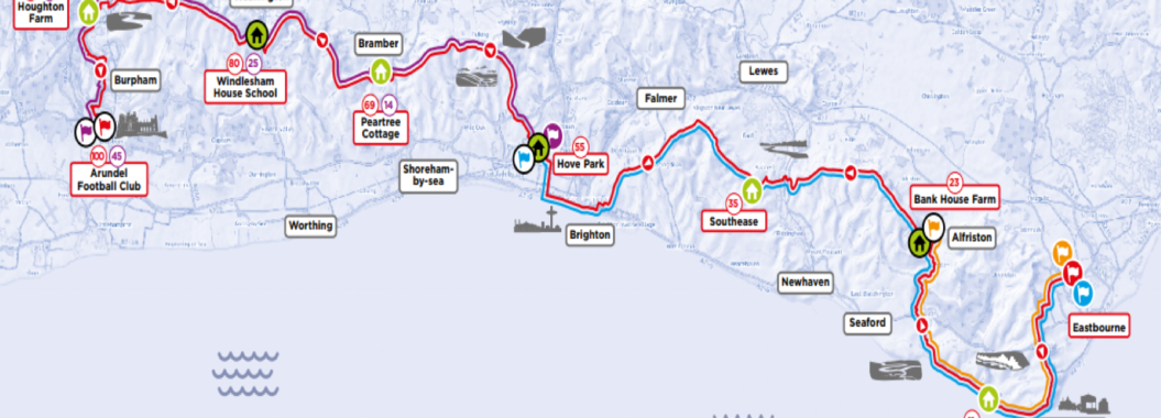 South Coast Challenge 2019 route